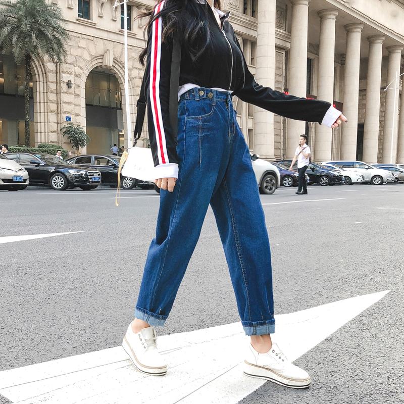 高腰显瘦牛仔裤女1