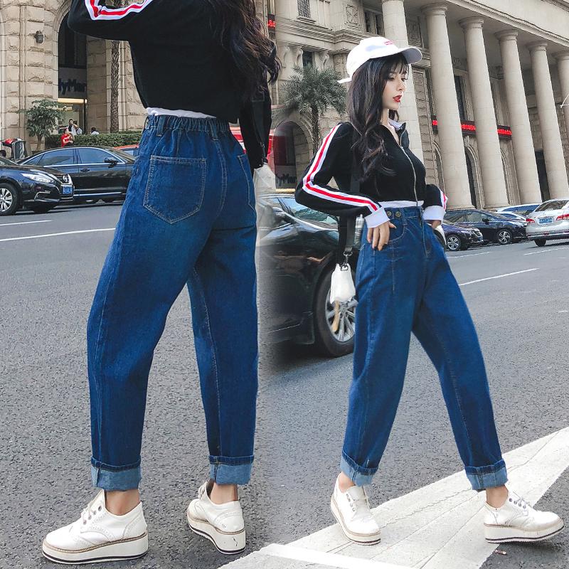 高腰显瘦牛仔裤女2