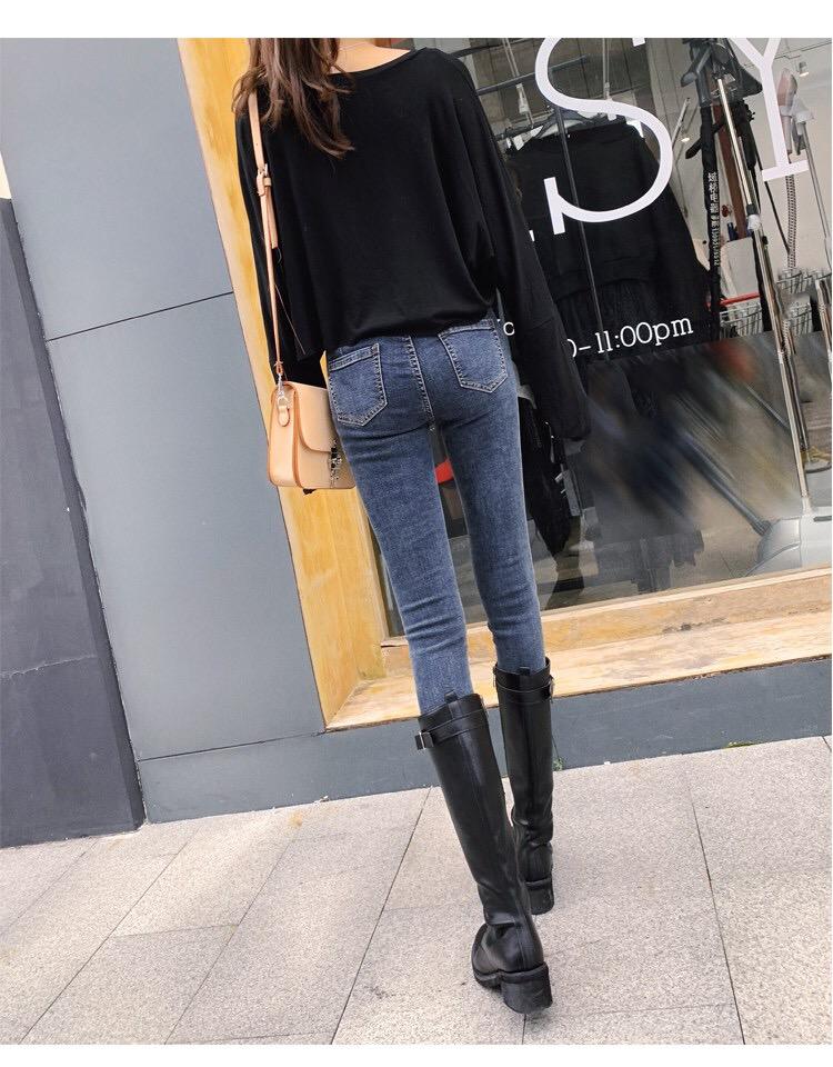 牛仔裤女高腰2