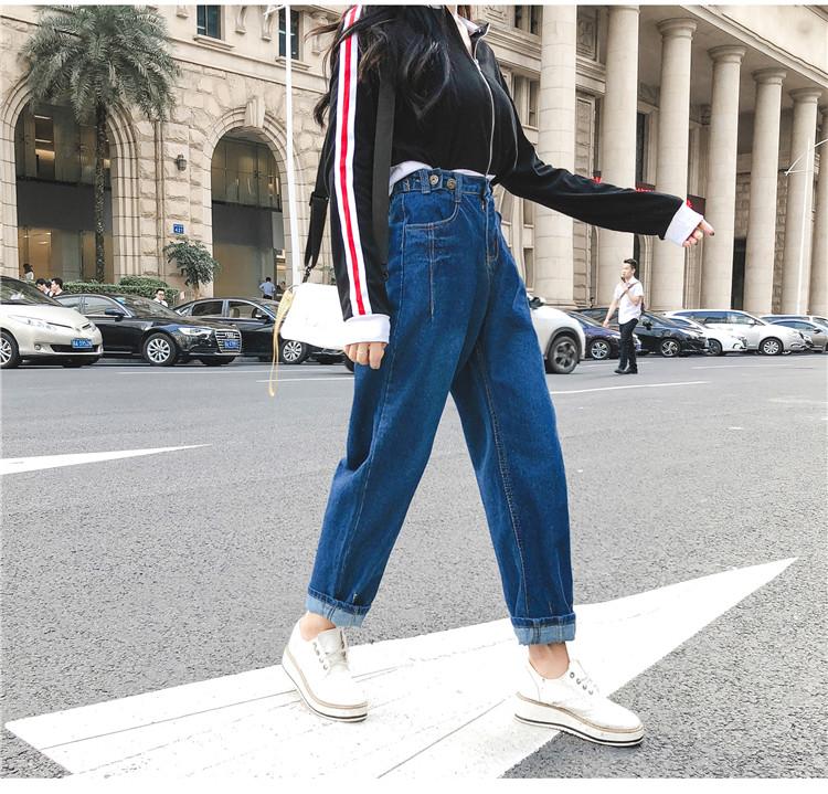 高腰显瘦牛仔裤女3