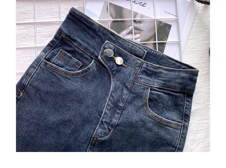 牛仔裤女高腰3