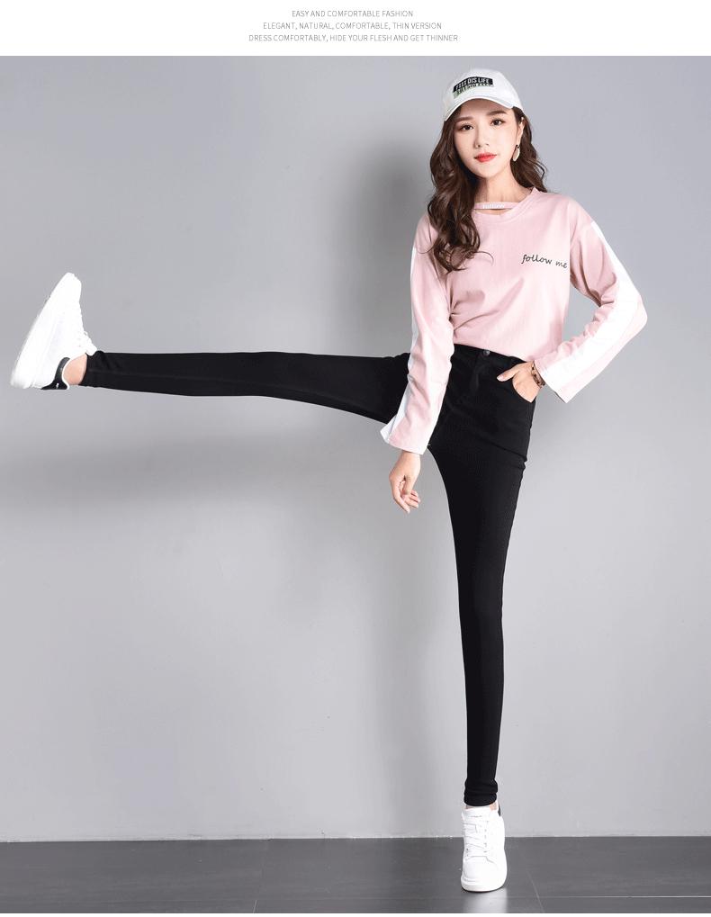 实拍魔术黑色弹力打底裤女外穿小脚2019新款高腰显瘦铅笔4