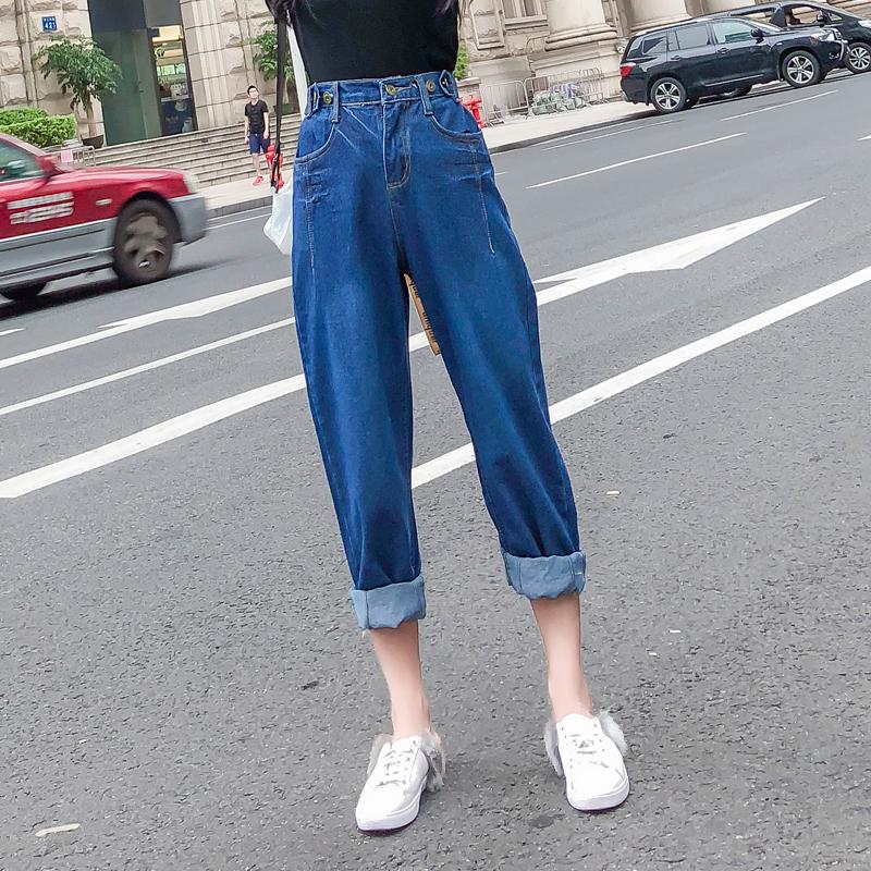 高腰显瘦牛仔裤女4