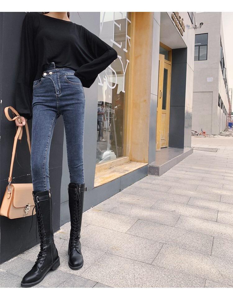 牛仔裤女高腰4