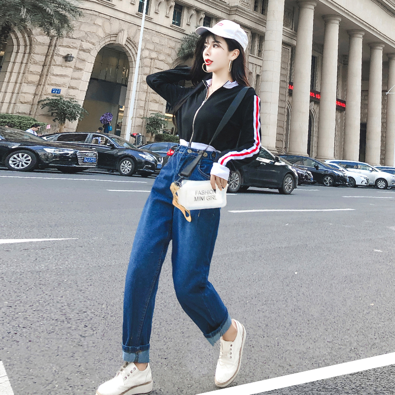 高腰显瘦牛仔裤女5