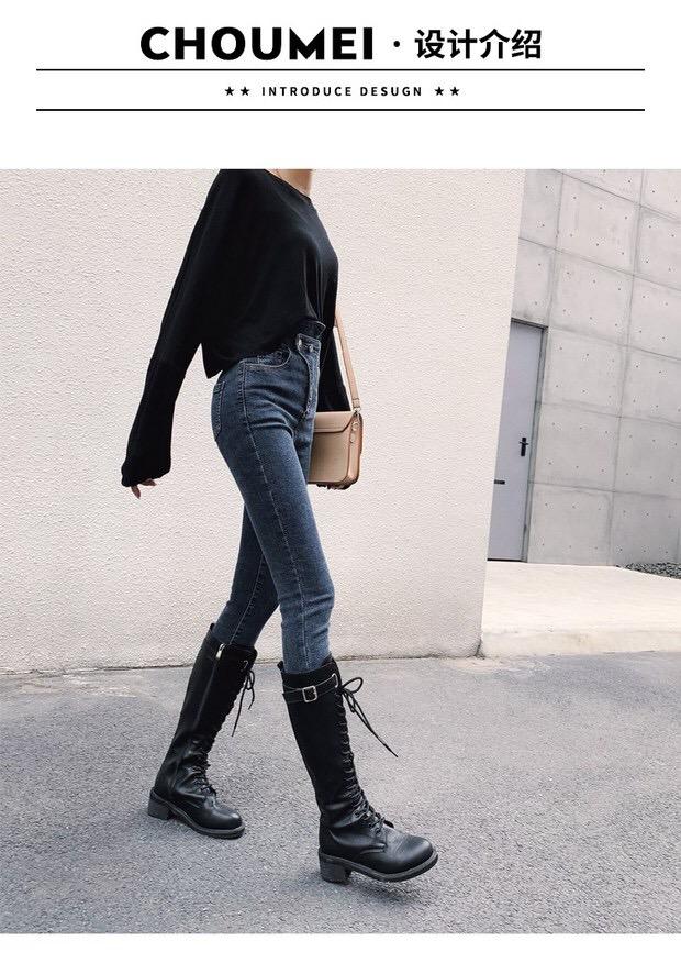 牛仔裤女高腰5
