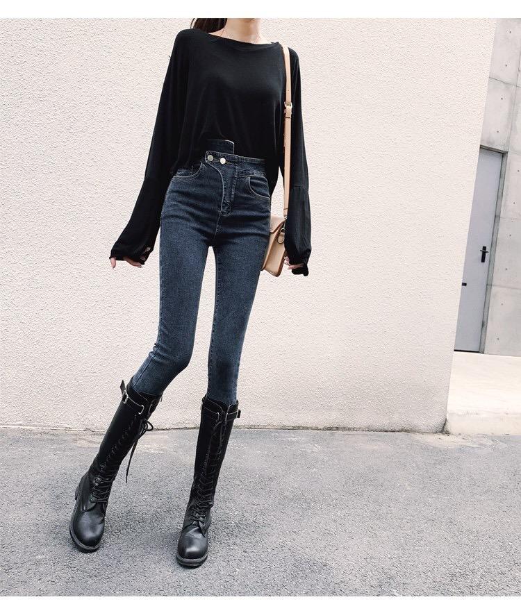 牛仔裤女高腰6