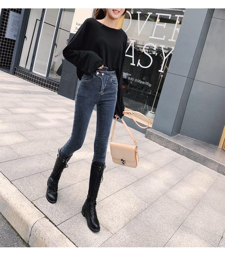 牛仔裤女高腰7