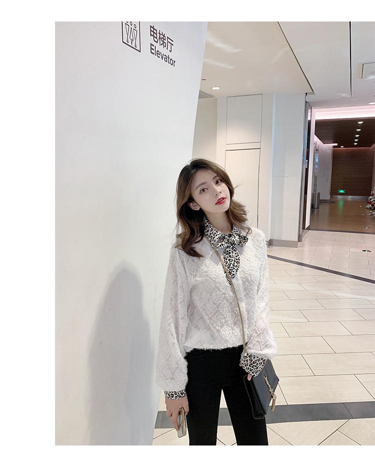韩版气质豹纹领1