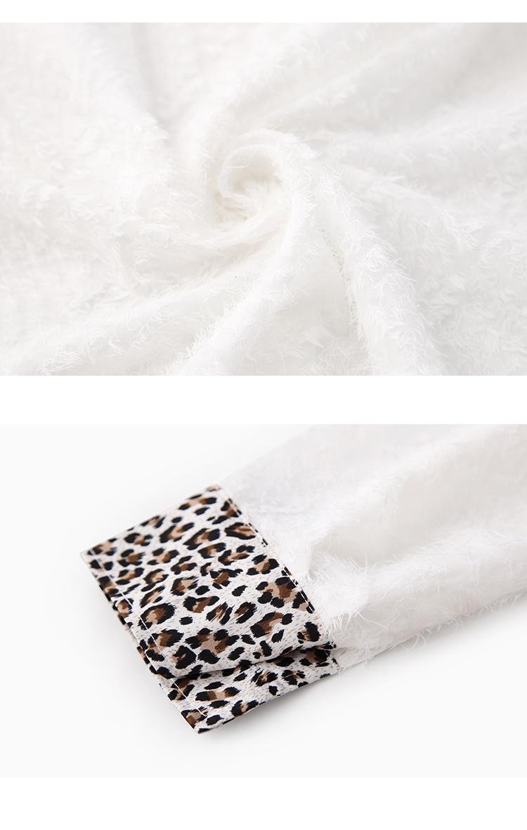 韩版气质豹纹领
