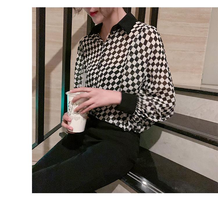 格子衬衫女长袖2