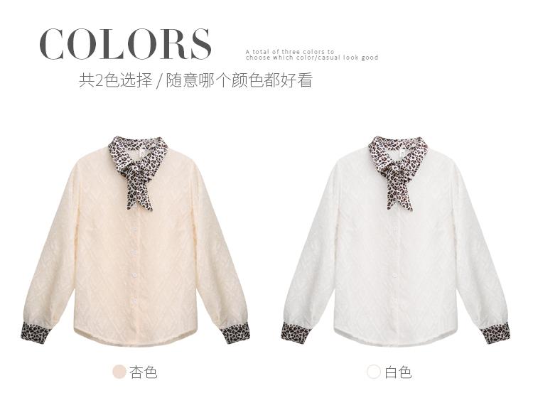 韩版气质豹纹领3