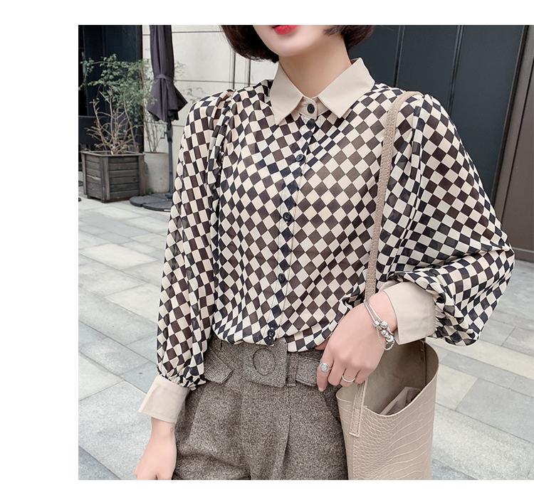 格子衬衫女长袖4