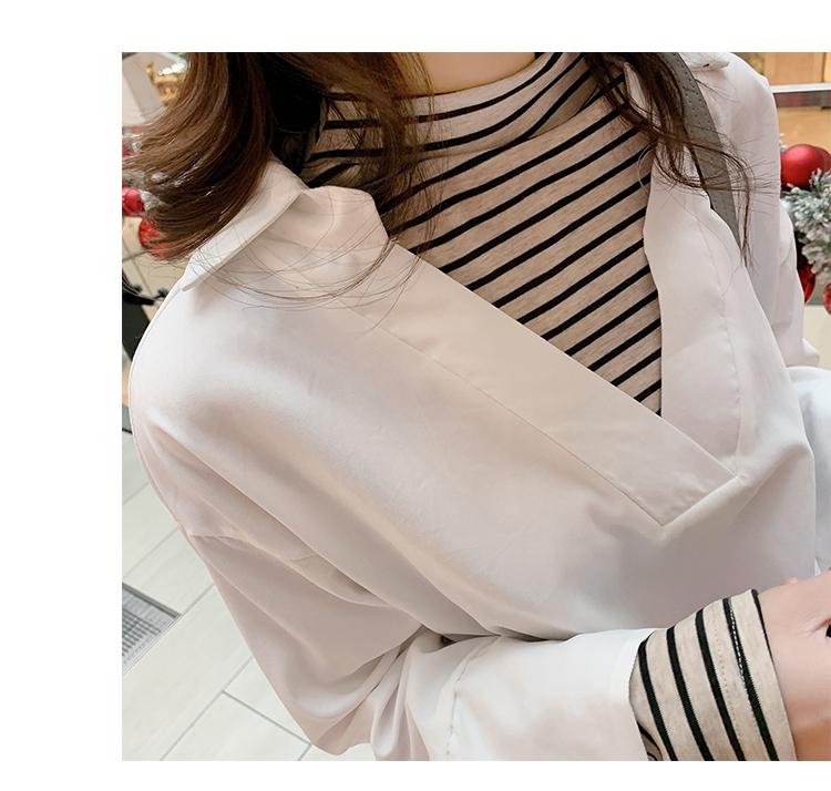 学院风女装宽松长袖衬衫4