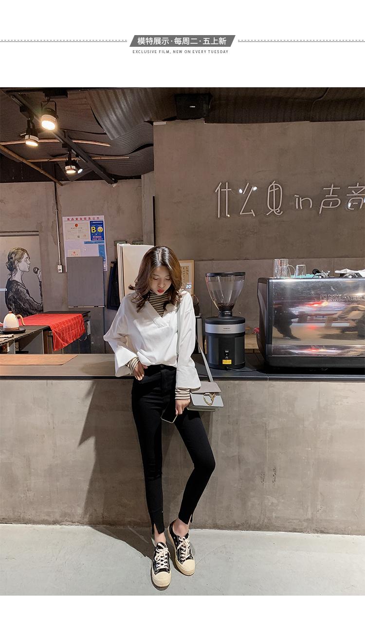学院风女装宽松长袖衬衫5