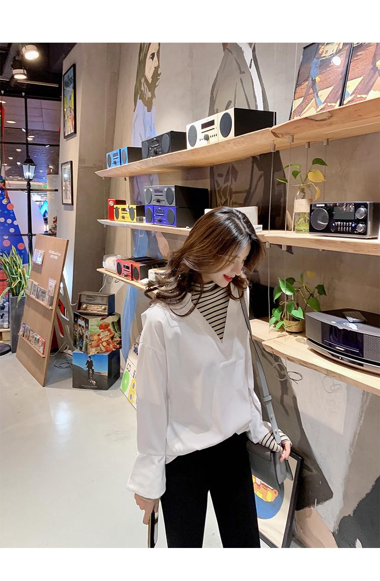 学院风女装宽松长袖衬衫6
