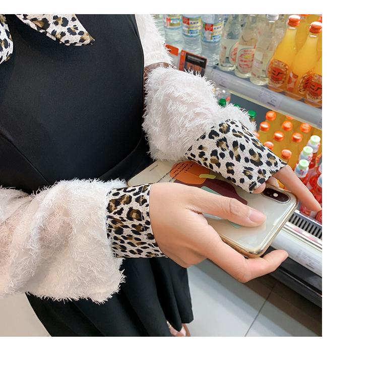 韩版气质豹纹领6