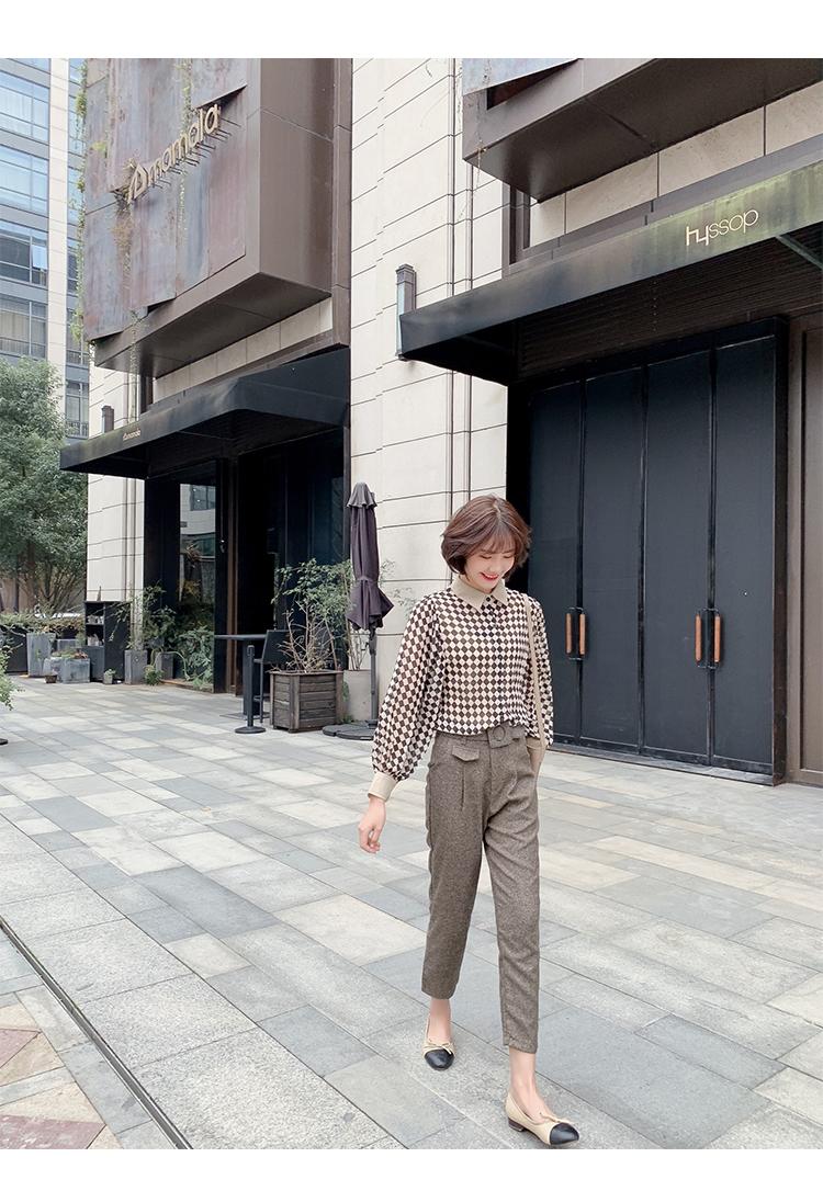 格子衬衫女长袖7