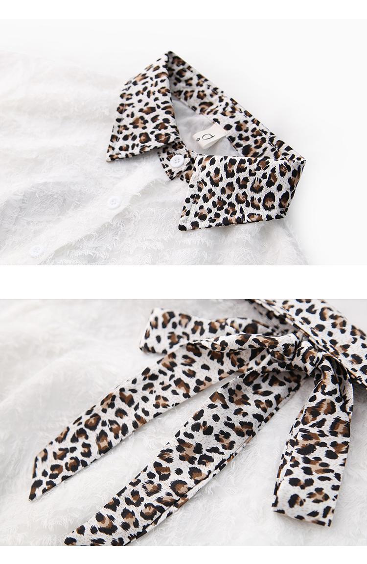 韩版气质豹纹领7