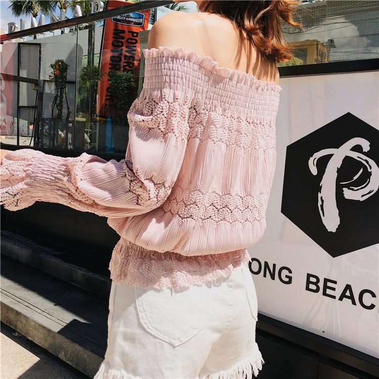 新款长袖蕾丝衫性3