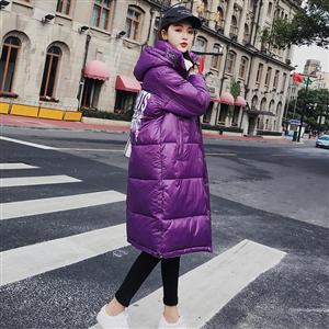 2018新款韩版冬季中长款过膝棉衣加厚棉服女宽松羽绒服面包服
