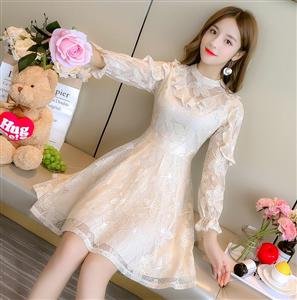 2019春季新款韩版高腰时尚chic中长款网纱裙百褶裙蓬蓬仙女裙