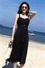 实拍原版质量海边度假吊带时髦气质A字大摆赫本中长款连衣裙