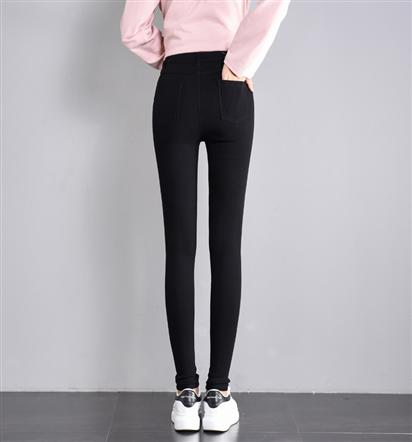 实拍魔术黑色弹力打底裤女外穿小脚2019新款高腰显瘦铅笔