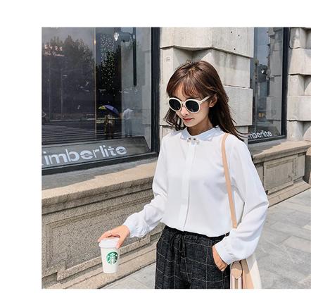 活动款 2018秋季新款女装韩版优雅气质立领百搭衬衫